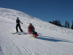 Bi-Skifahren, (c) TVB Schladming