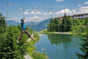 Kletterparcour mit See, TVB Wilder Kaiser
