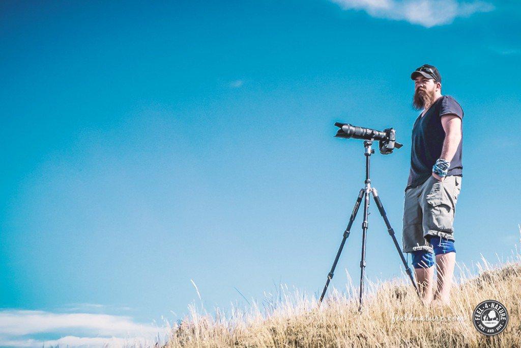 Christian Hubo beim Fotografieren, Feel4Nature