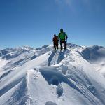 Skitour Gipfel, Osttirol Werbung, Grüner