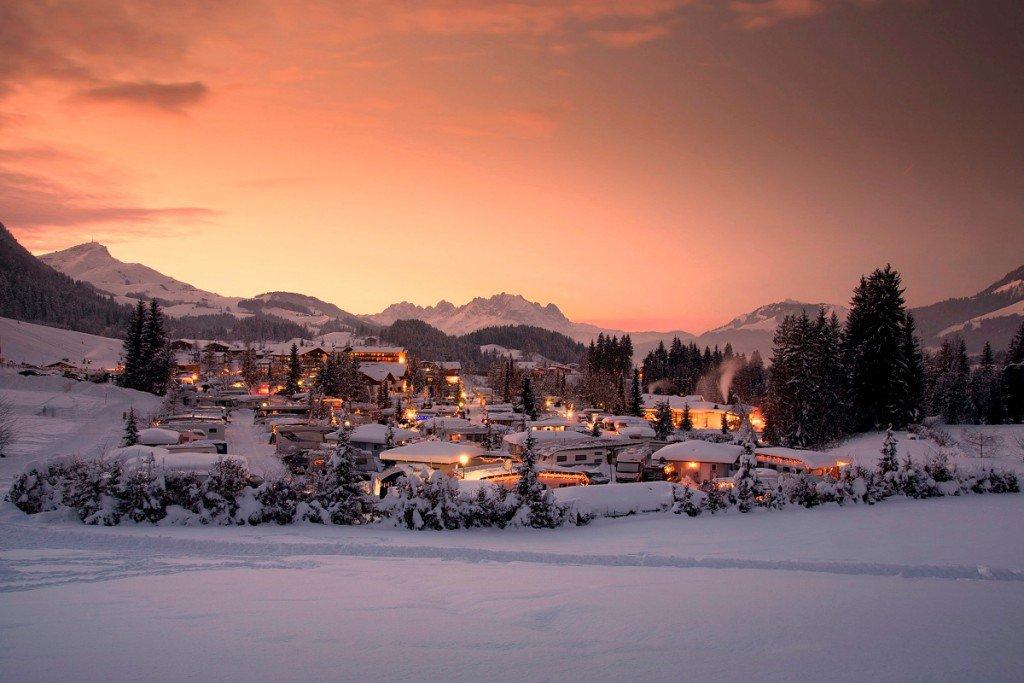 Wintercamping im Tirol Camp Fieberbrunn