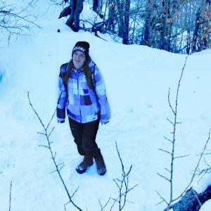 Kuratorin Elisabeth im Winter