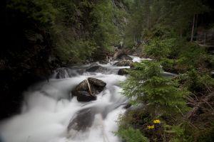 Stille Bergseen, reine Quellbäche, tiefe Schluchten und tosende Klammen