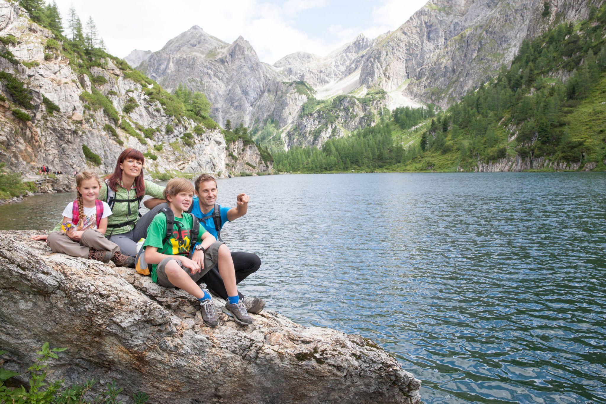 Familie am Tappenkarsee, © Wagrain Kleinarl Tourismus