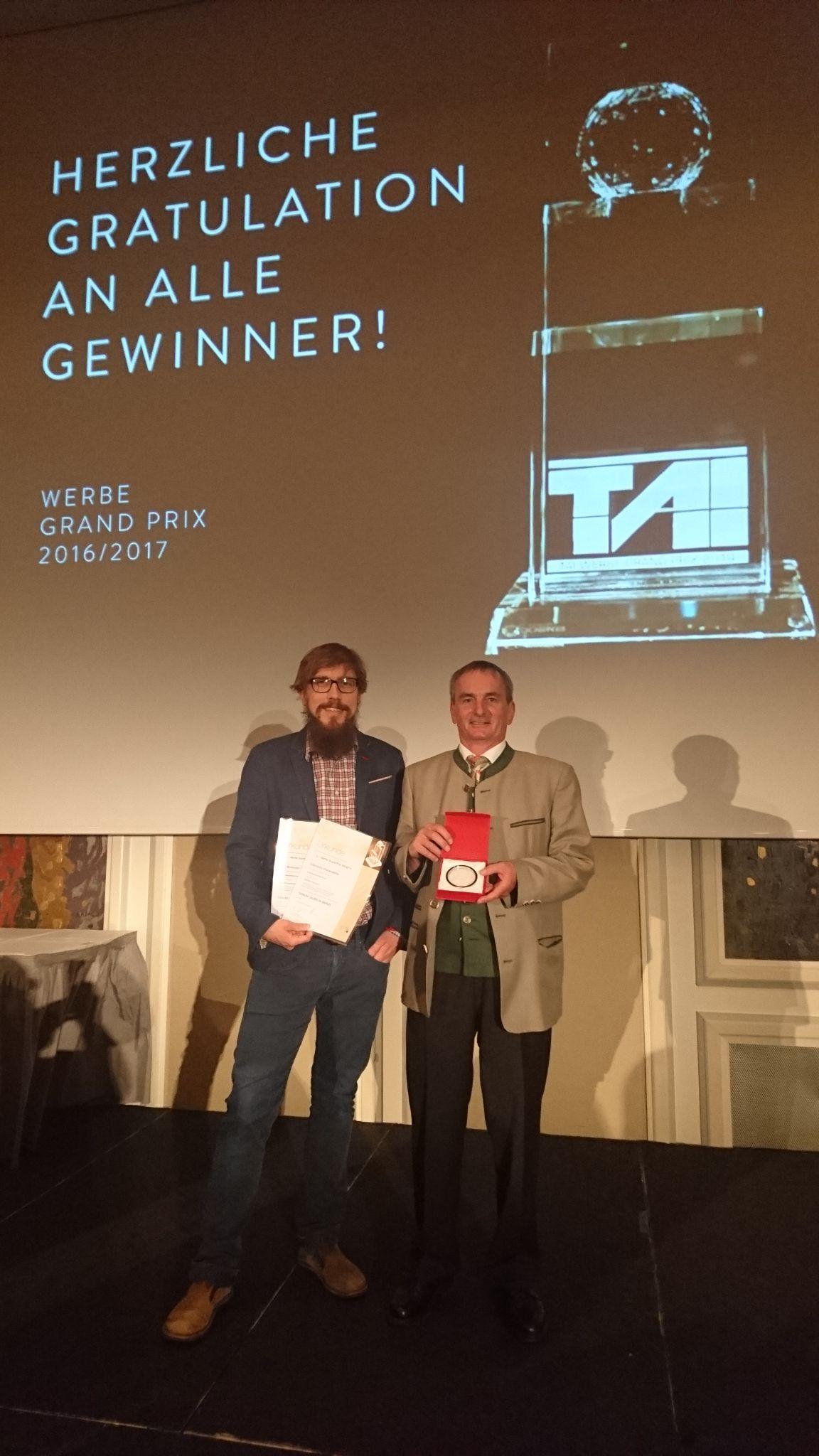 Ulrich Andres (TAO Digital) & Reinhard Ferner (Obmann Österreichs Wanderdörfer)