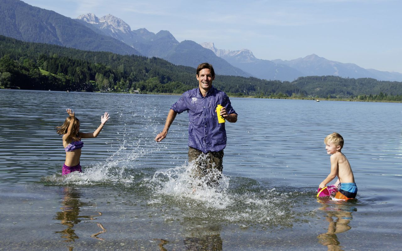 Spaß am Presseggersee, © Nassfeld-Pressegger See/Lesachtal