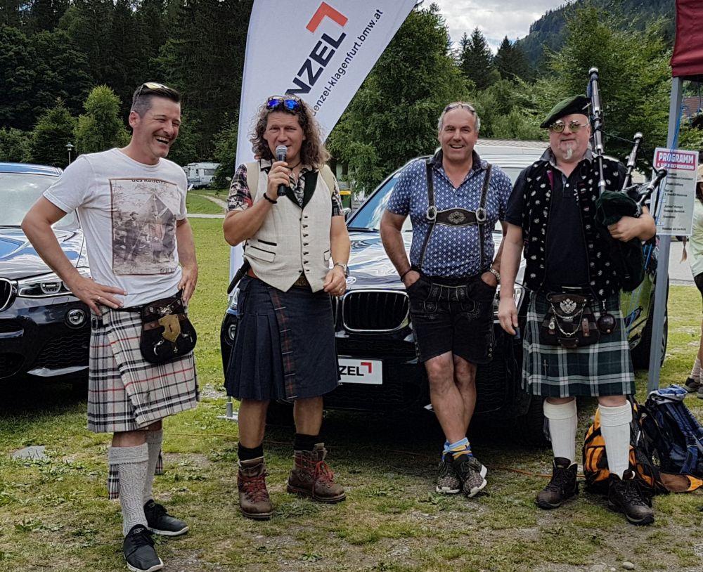Eröffnung Rettl Alpen-Kilt-Wanderung mit Thomas Rettl