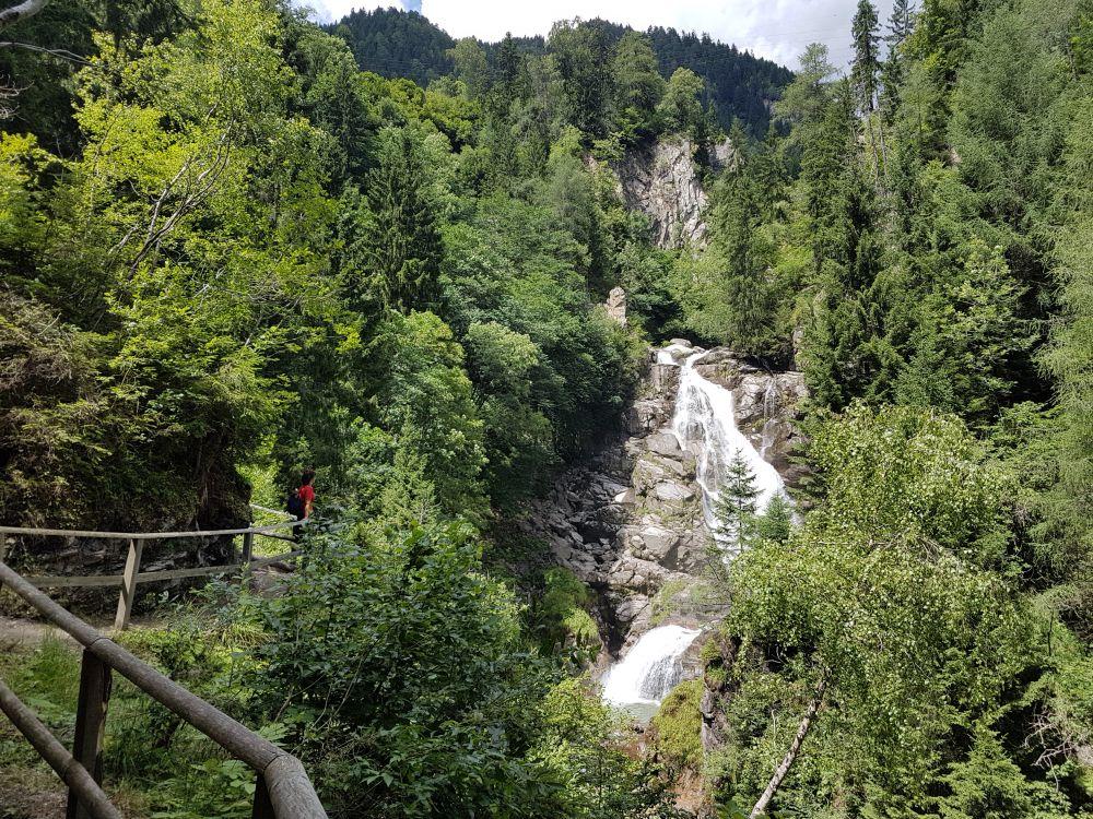 Wasserfall in der Groppensteinschlucht