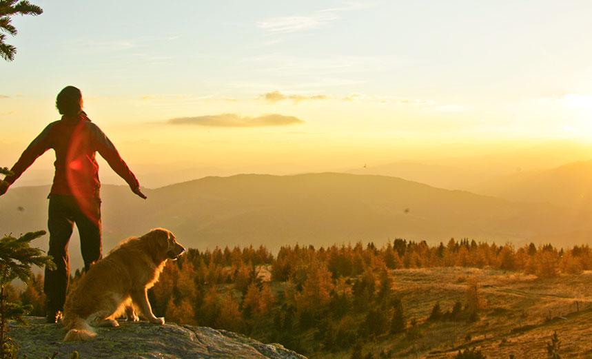 Urlaub mit Hund auf der Tonnerhütte