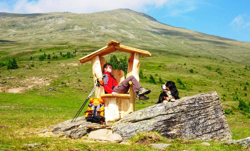 Wanderung mit Hund auf den Zirbitzkogel, © Tonnerhütte