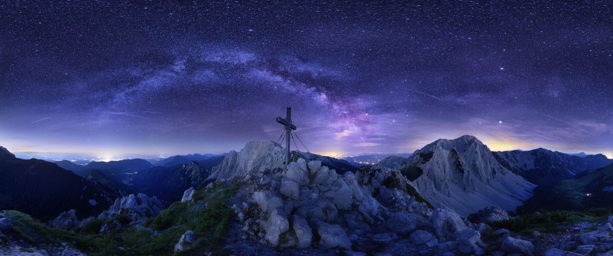 Bielschitza Panorama mit Sternen, © Jörg Schmöe
