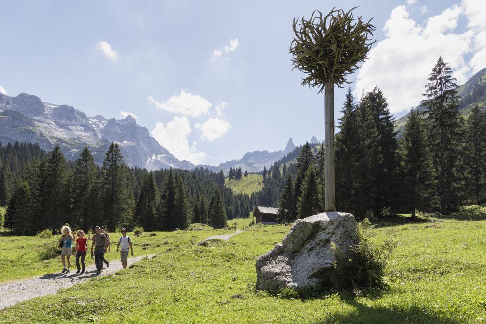 Der Geweihbaum - Gauertaler AlpkulTour, © Andreas Haller - Montafon Tourismus GmbH, Schruns