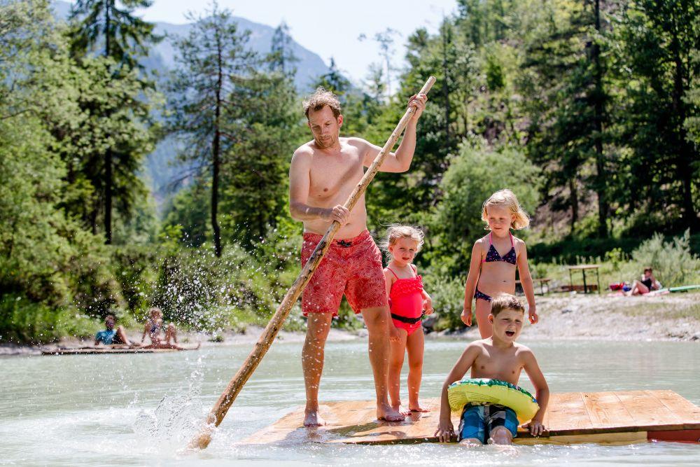 Spaß im Wasser, © Salzburger Saalachtal Tourismus