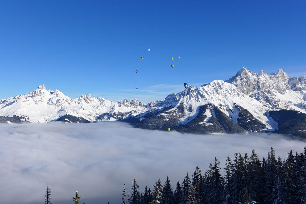 Ballone über den Wolken in Filzmoos, © TVB Filzmoos, Alfred Hahn