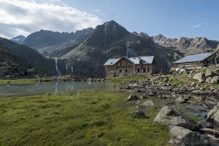 Winnebachseehuette, Stubaier Alpen, Tirol, Oesterreich.