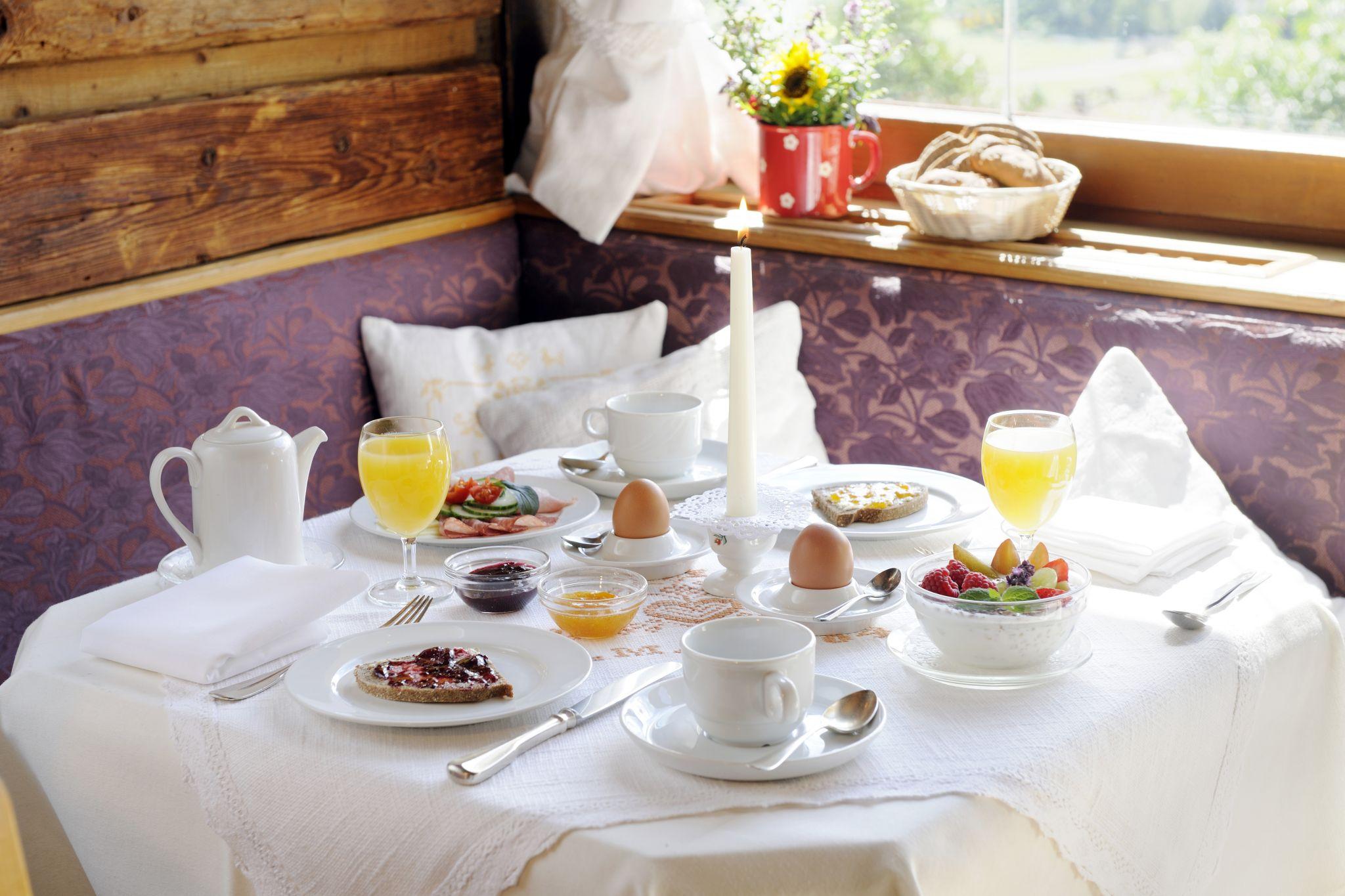 Frühstück Hotel Alpenrose