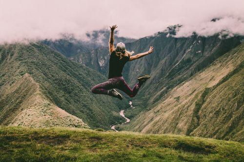 girl jump, unsplash