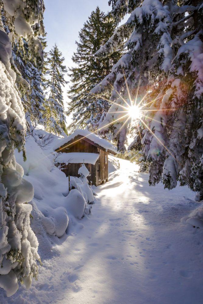 Wintersonne in Filzmoos