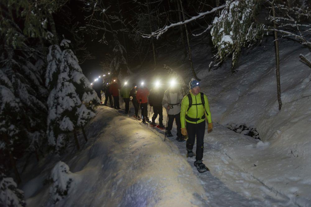 Geführte Schneeschuhwanderung bei Nacht, FG Timeshot Rechte Wildschönau Tourismus