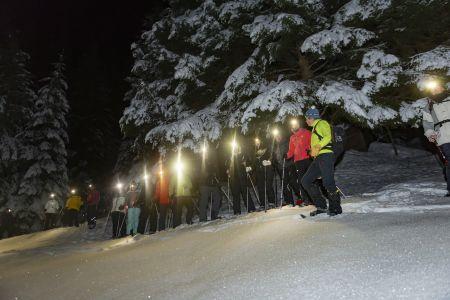 Geführte Schneeschuhwanderung bei Nacht FG Timeshot, Rechte Wildschönau Tourismus