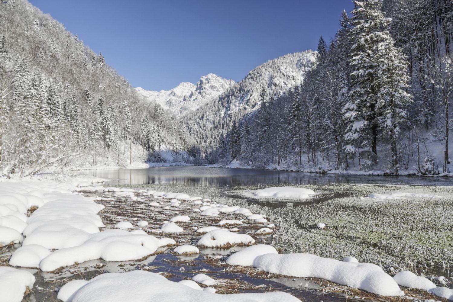 Winterliches Antlitz des Pillersees