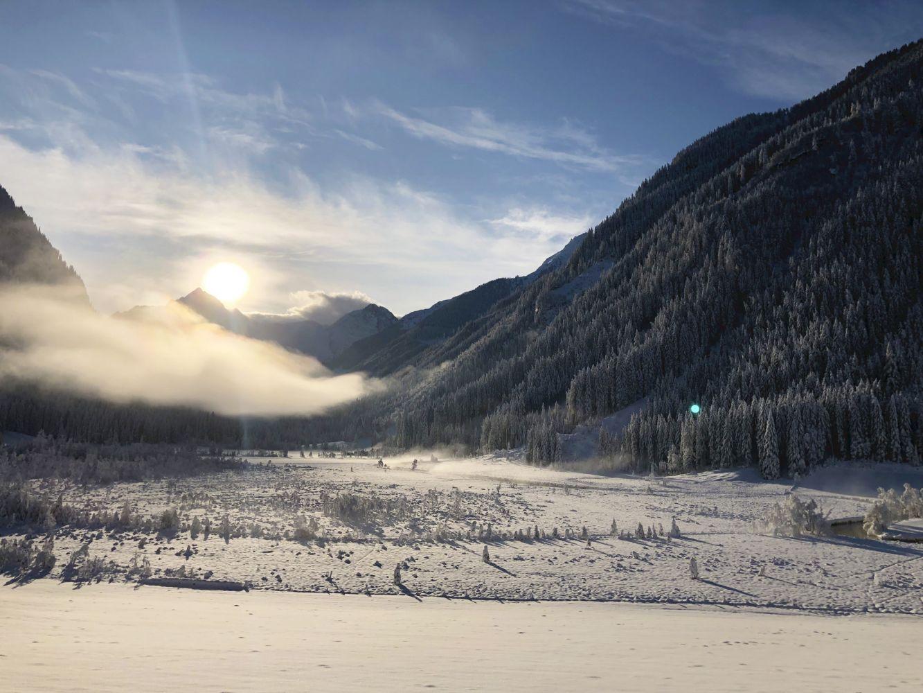 Blick vom Untertaler Winterwanderweg auf das Tettermoor