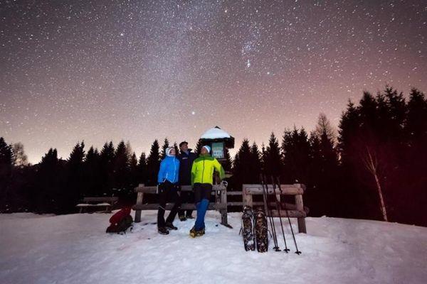 Mondschein Schneeschuhwanderung Weissensee © Naturpark Weissensee