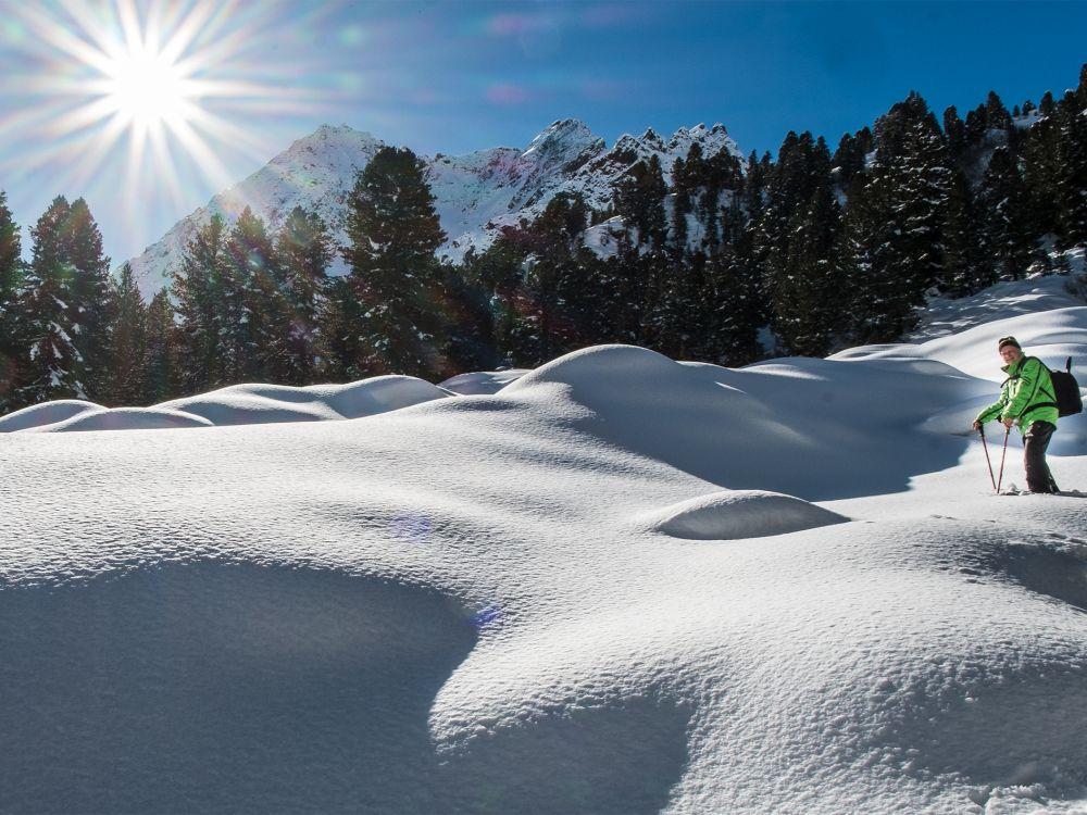 Tiefverschneite Momente in Gries © Ötztal Tourismus
