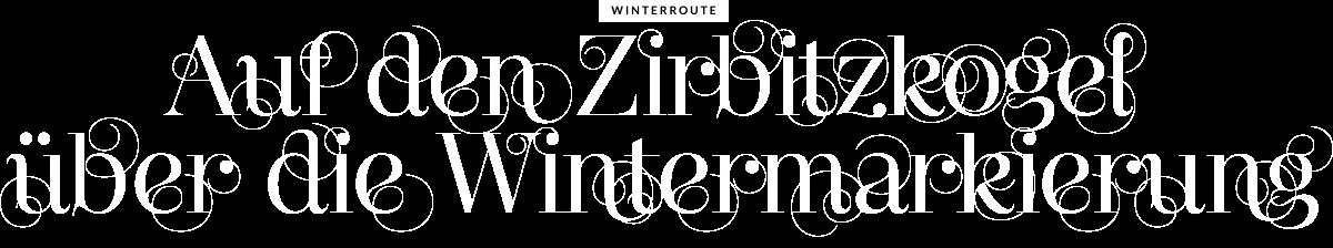 Auf den Zirbitzkogel über die Wintermarkierung