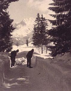 schneeraumung-hauptstrae-nach-fieberbrunn-1944-© TVB PillerseeTal