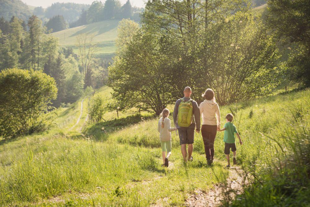 Spielend Wandern, Outdoor Spiele, Weg und Wiese, ©ÖWD, Tim Ertl