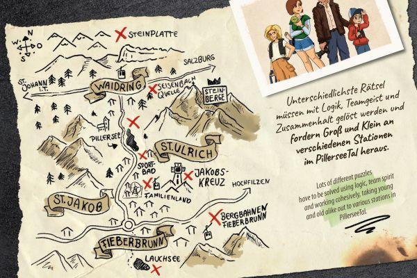 Karte Steinbergkönig, Pillerseetal