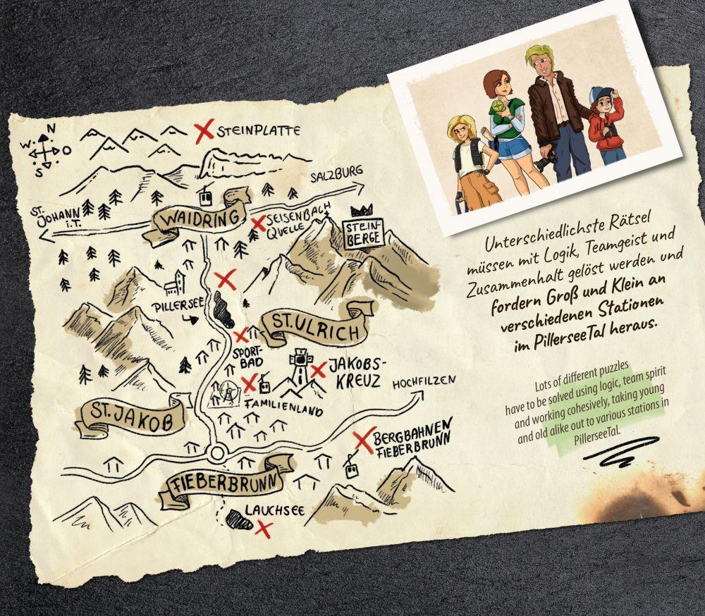 Das Geheimnis des Steinbergkönigs - Karte (c) PillerseeTal
