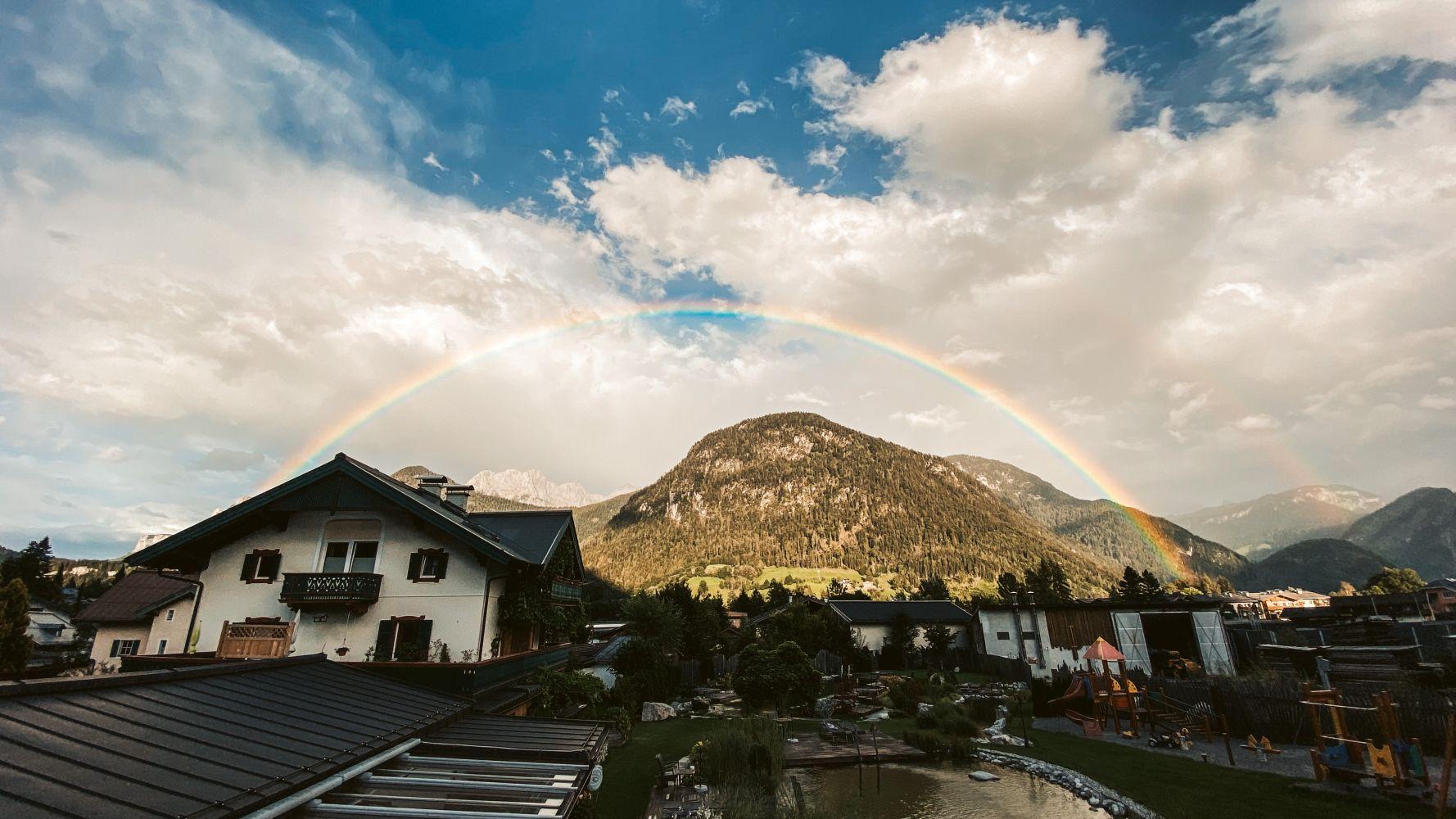 Regenbogen über dem Saalachtal