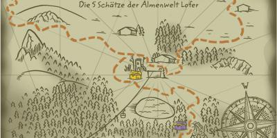 Schatzkarte, Almenwelt Lofer, Saalachtal