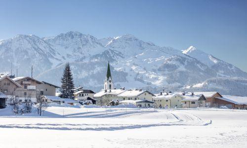 Ortsansicht WinterWinterdorf Hochfilzen © defrancesco - Hochfilzen