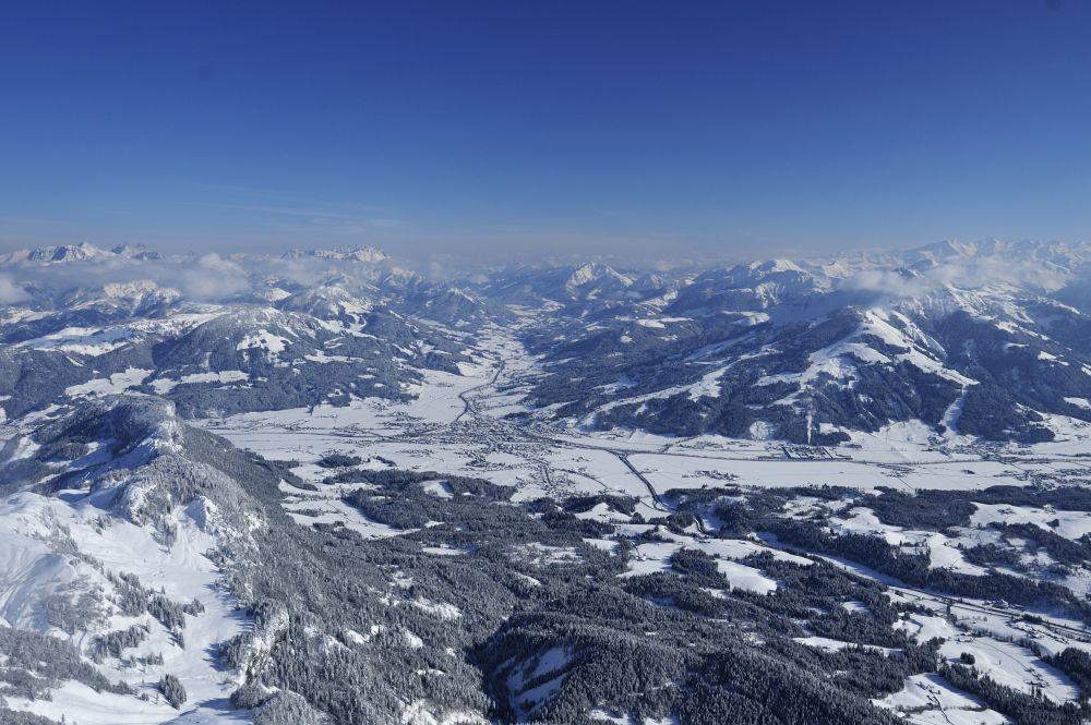 Luftaufnahmen Winter © Stefan Eisend, St. Johann in Tirol