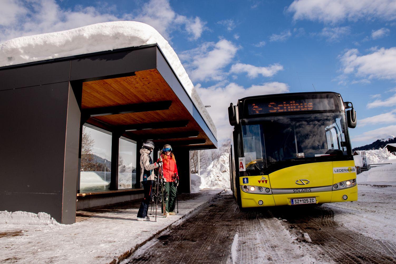 Gästekarte = Fahrkarte für öffentliche Linien- und Skibusse