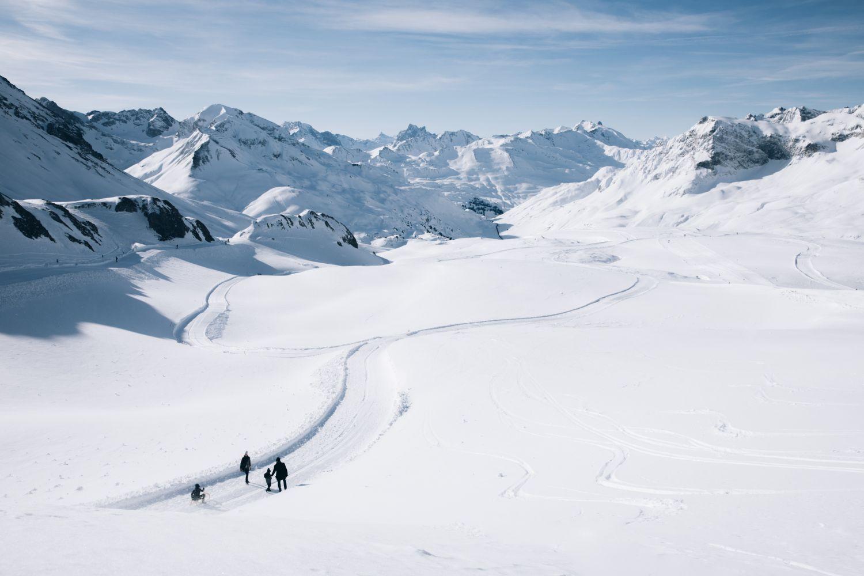 Höhenrundweg auf 2.350 Metern am Rüfikopf