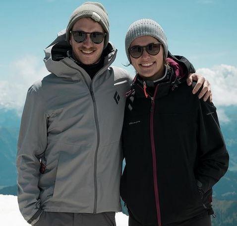Moritz und Mirjam am Gipfel