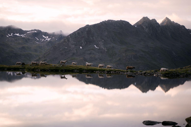 Spiegelglatte Bergseen
