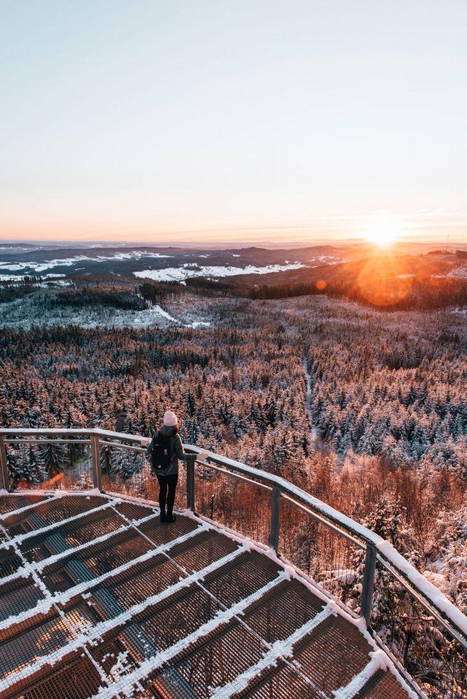 …bis zur Aussichtsplattform am Nebelstein.